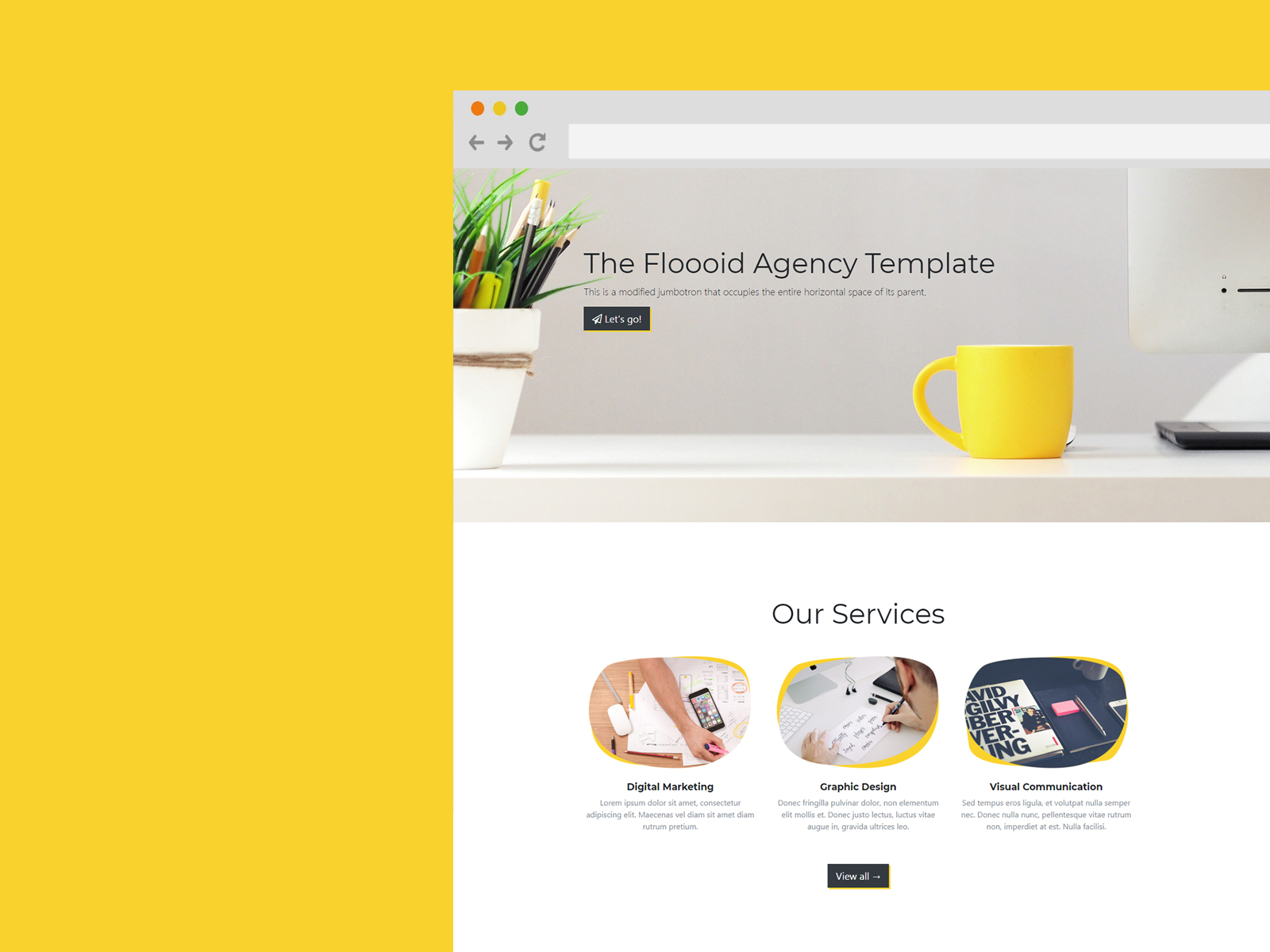 Flooid Agency Free Template