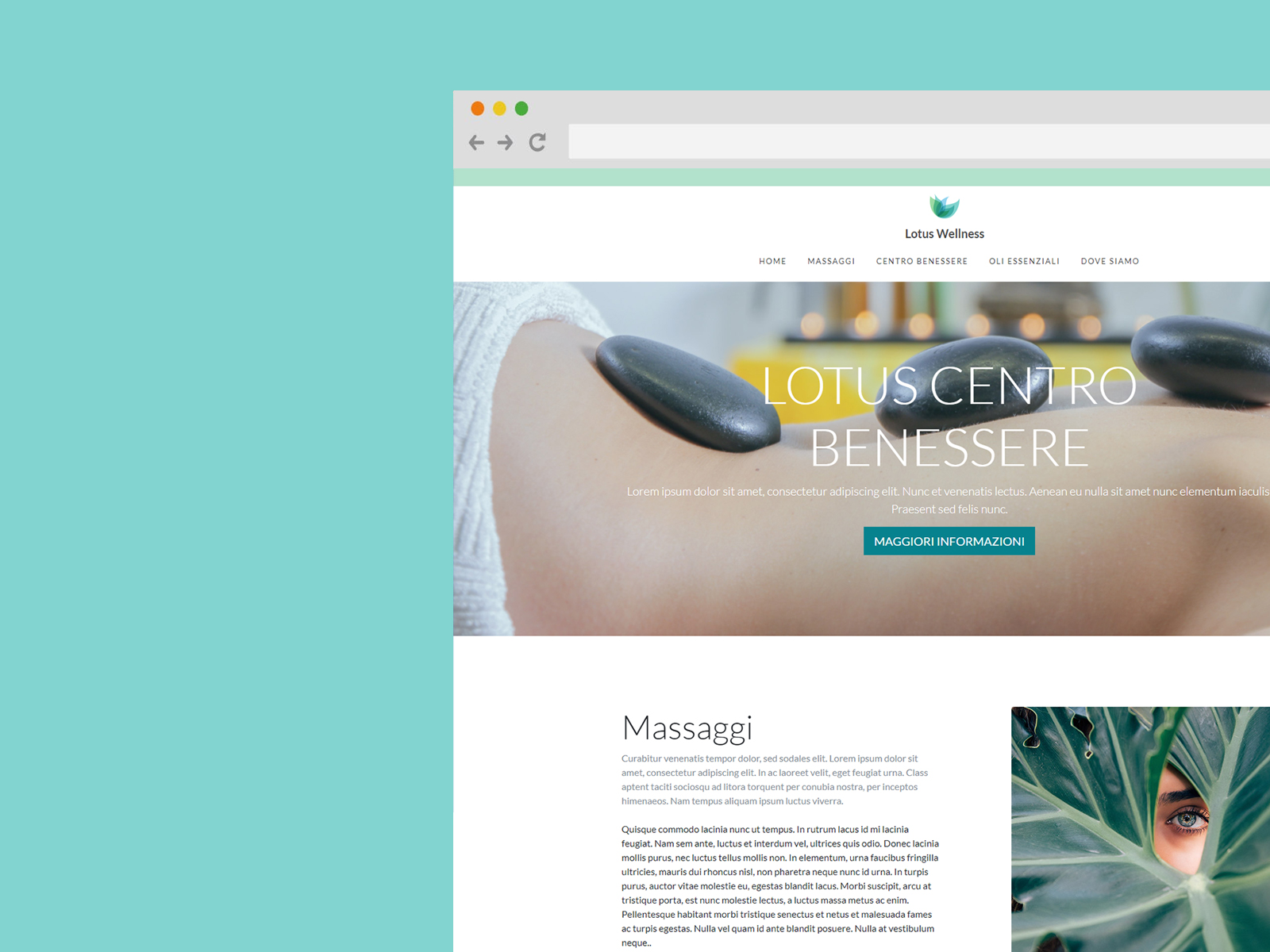 wellness free bootstrap template